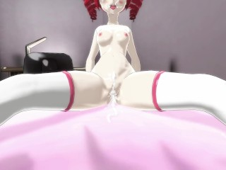 MMD Futanari Sex - Maran in touble! Alma the Breeder 3P - F2D